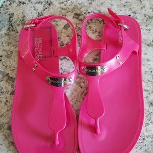 Mk pink jelly sandles